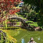 Japanese Spring - The Japanese Garden Of The Huntington Library. Poster
