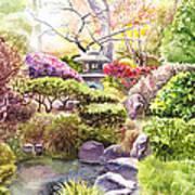 San Francisco Golden Gate Park Japanese Tea Garden  Poster