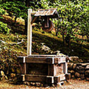Japanese Tea Garden Well Poster