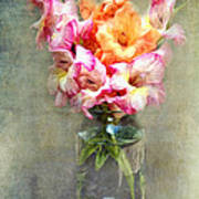 Jar Of Gladiolas Poster