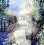 Jasper Athabasca Falls Poster
