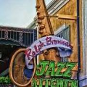 Jazz Kitchen Signage Downtown Disneyland Poster