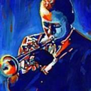 Jazz Man Miles Davis Poster