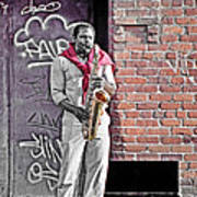 Jazz Man - Street Performer Poster