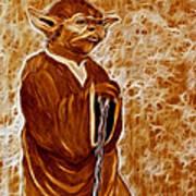 Jedi Master Yoda Digital From Original Coffee Painting Poster