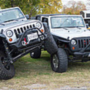 Jeeps In Juxtaposition Poster