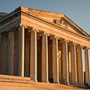 Jefferson Memorial Sunset Poster by Steve Gadomski