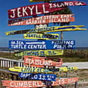 Jekyll Island Sign Poster