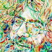 Jerry Garcia Watercolor Portrait.1 Poster by Fabrizio Cassetta