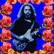 Jerry In Blue With Rose Frame Poster
