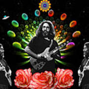 Jerry Spacepods Triple Jerry Ufo Roses Under Cosmic Sun Poster