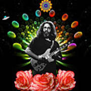 Jerry Spacepods Ufo Roses Under Cosmic Sun Poster