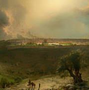 Jerusalem From The Mount Of Olives Poster