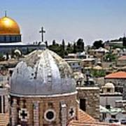 Jerusalem Old City Domes Poster