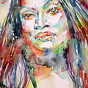 Jessye Norman - Watercolor Portrait Poster