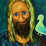 Jesus And Dove Poster