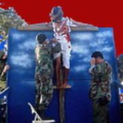 Jesus Christ Float 60th Anniversary Of The Landing On Iwo Jima In Ww2 Sacaton Arizona 2005 Poster