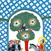 Jesus Enters The Gate Of Jerusalem Poster