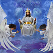 Jesus Enthroned Poster by Tamer and Cindy Elsharouni
