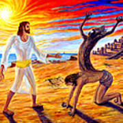 Jesus Evicting A Demon Poster