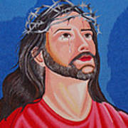 Jesus Hand Embroidery Poster by To-Tam Gerwe