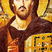 Jesus Icon At Saint Catherine Monastery Poster