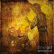 Jesus Meets His Mother Via Dolorosa 4  Poster by Lianne Schneider