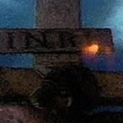 Jesus On The Cross Fresco  Poster