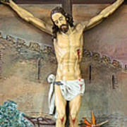 Jesus Statue At Latin Church In Taybeh Poster