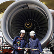 Jet Engine And Air Mechanics Poster