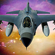 Jet Fighter Aircraft F-16 Falcon Aircraft  Poster