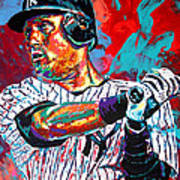 Jeter At Bat Poster
