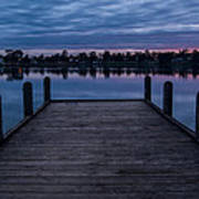 Jetty At Sunrise Poster