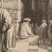 Jews In The Synagogue Poster