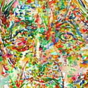 Jiddu Krishnamurti Watercolor Portrait.2 Poster