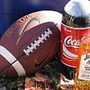 Jim Beam Coke And Football Poster