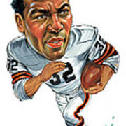 Jim Brown Poster by Art