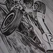Jim Clark At Monaco 64 Poster