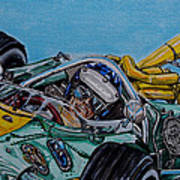 Jim Clark Indy 500 Poster