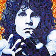 Jim Morrison Chuck Close Style Poster by Joshua Morton