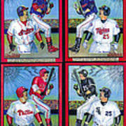 Jim Thome Hits 600th Home Run Poster by Ray Tapajna