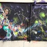 Jimi Hendrix Mural Poster by Erik Franco