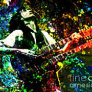 Jimmy Page - Led Zeppelin - Original Painting Print Poster