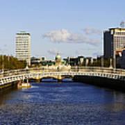 Joe Fox Fine Art - Hapenny Liffey Bridge Over The River Liffey In Central Dublin Ireland Poster