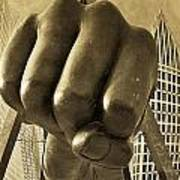 Joe Louis Fist In Detroit Poster