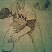 Joe Nuxhall Poster by Christy Saunders Church