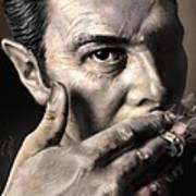 Joe Strummer-burning Lights Poster by Reggie Duffie