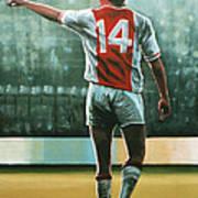 Johan Cruijff Nr 14 Painting Poster