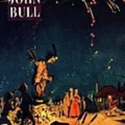 John Bull 1954 1950s  Uk Guy Fawkes Poster