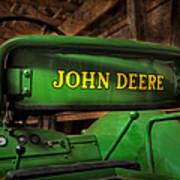 John Deere Tractor Poster by Susan Candelario